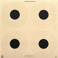 10 Meter (33 Ft.) Air Pistol Four Bullseye