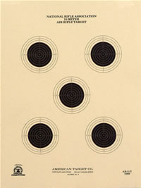 10 Meter (33 Ft.) Air Rifle Five Bullseye