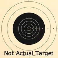 Center for 100 Yard Reduction of 600 Yard Military Target