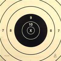 Center for 200 Yard Standard Military Target