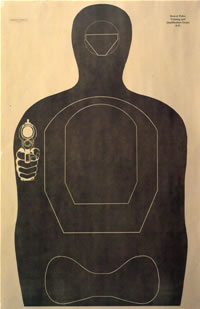 Denver Police Training and Qualification Target