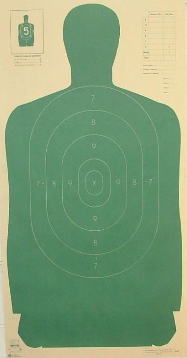 blank shooting target paper