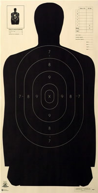 Law Enforcement Shooting Targets - American Target Company Police Shooting Target