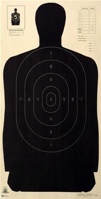 Law Enforcement Shooting Target B21X  American Target