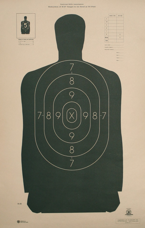 B 21 Police Shooting Targets Law Enforcement Offici...