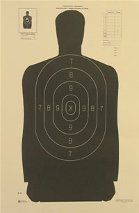 NRA Police Silhouette 25 yd.