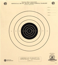 photograph about Nra B-8 Target Printable identified as Pistol Taking pictures Aims - American Focus Organization